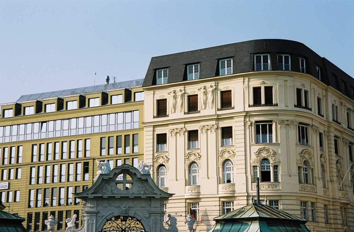 Aestomed von außen, aus der Richtung des Belvedere Wien